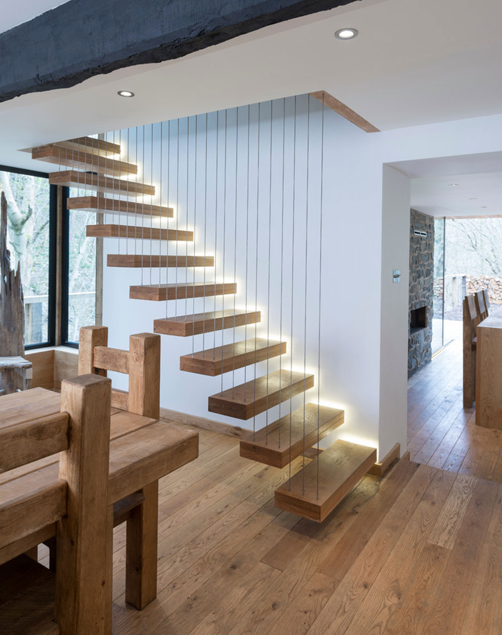 Modern And Exquisite Floating Staircase6 Modern And Exquisite Floating  Staircase Designs