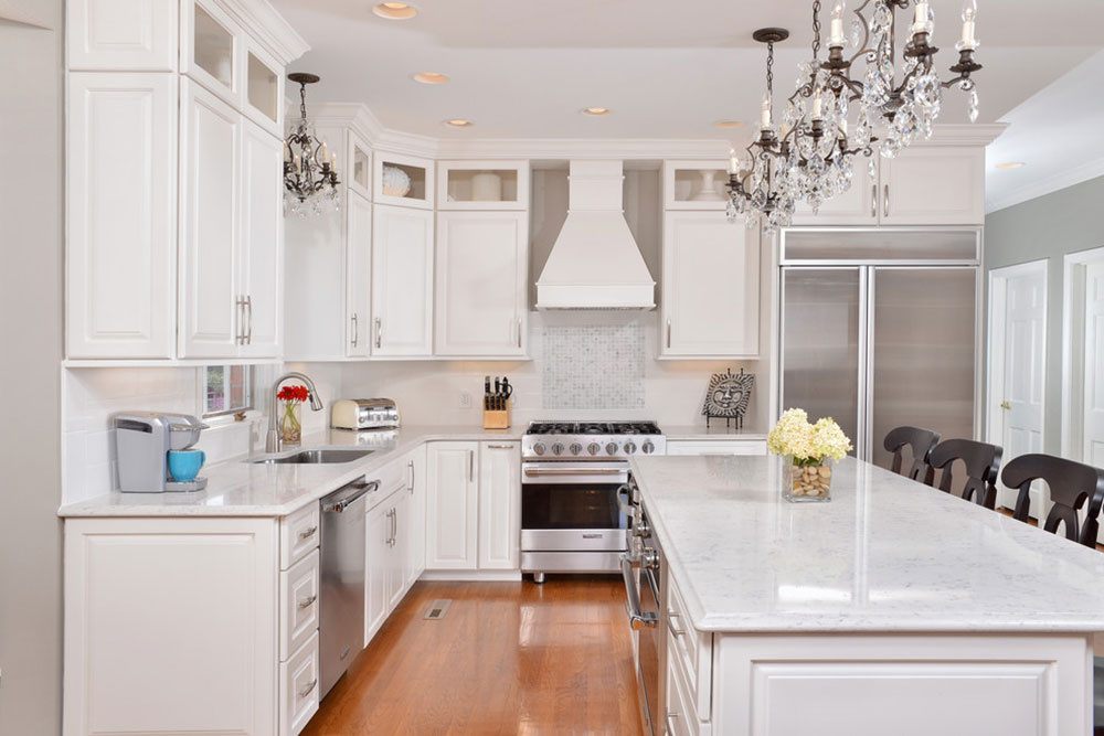 White Kitchen Cabinets With Quartz