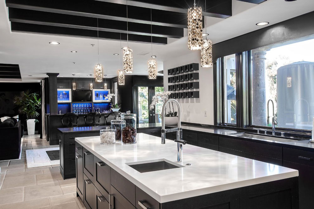 Bright Your Kitchen With Sparkling White Quartz Countertop14 Brighten