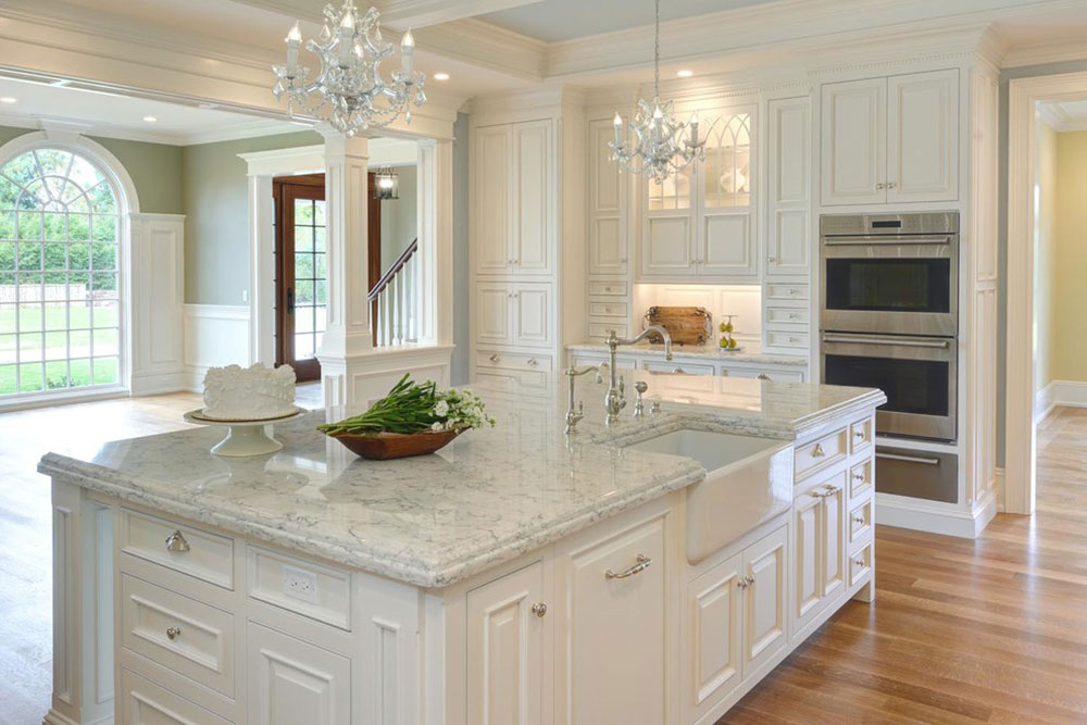 White Quartz Kitchen Countertops brighten your kitchen with sparkling white quartz countertop