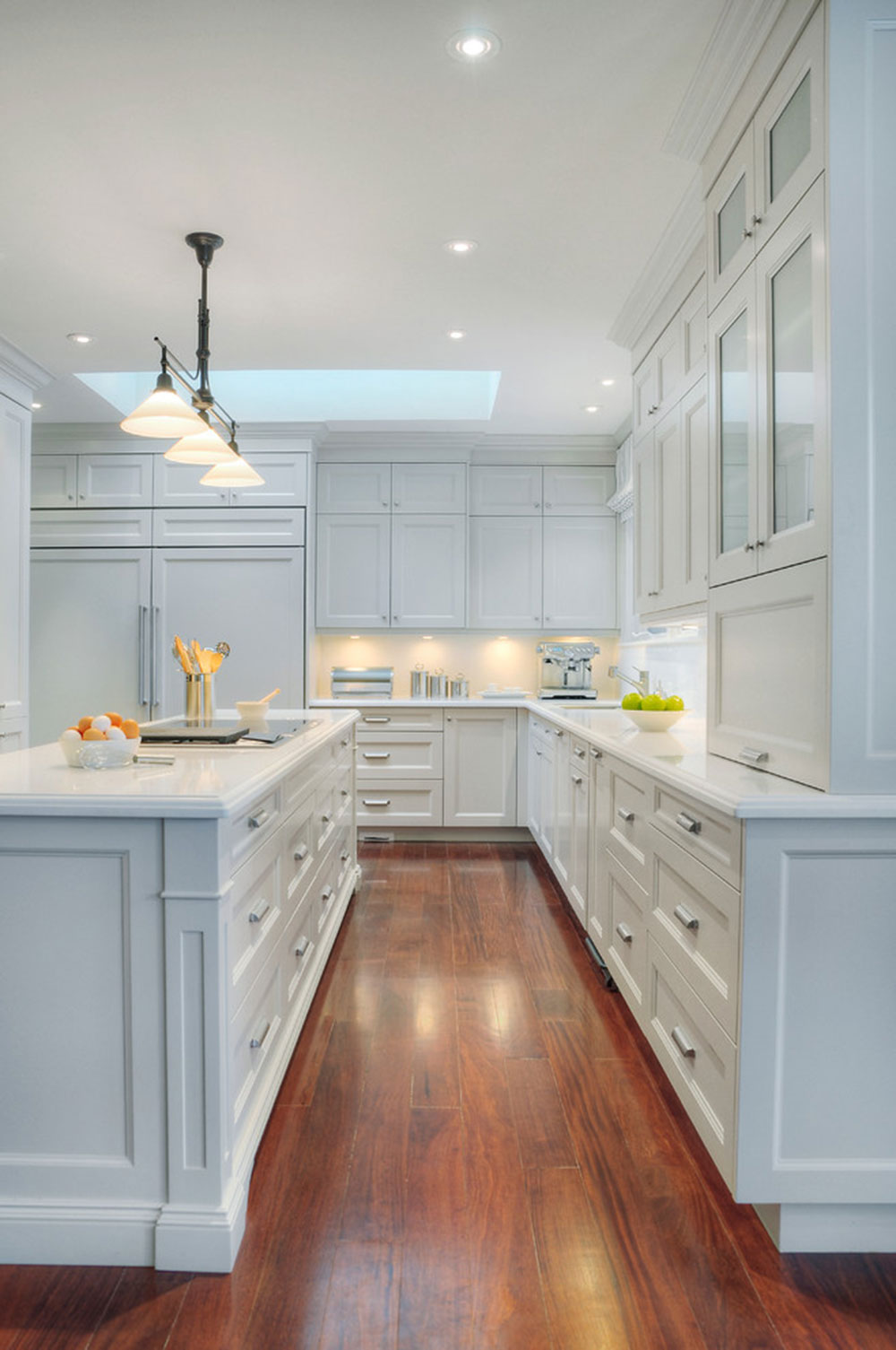 Bright Your Kitchen With Sparkling White Quartz Countertop18