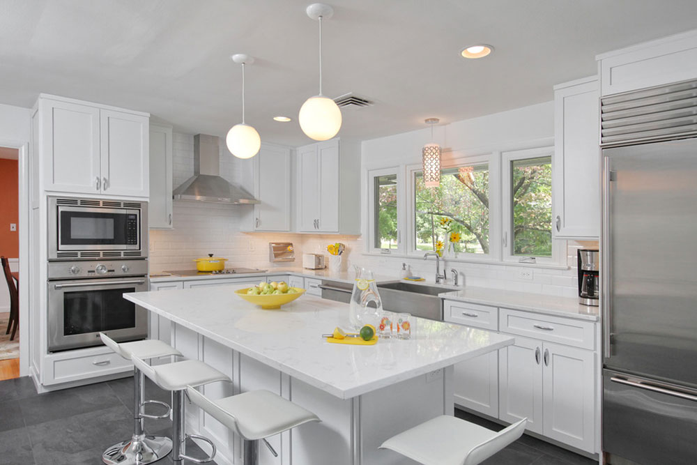 White Kitchen Cabinets Countertop Colors