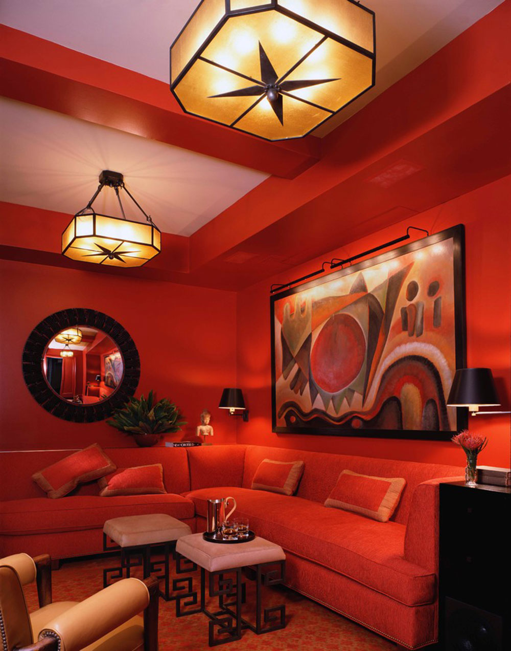 What Color Goes With Red Examples Of What Color Goes With Orange 22 House Interiors