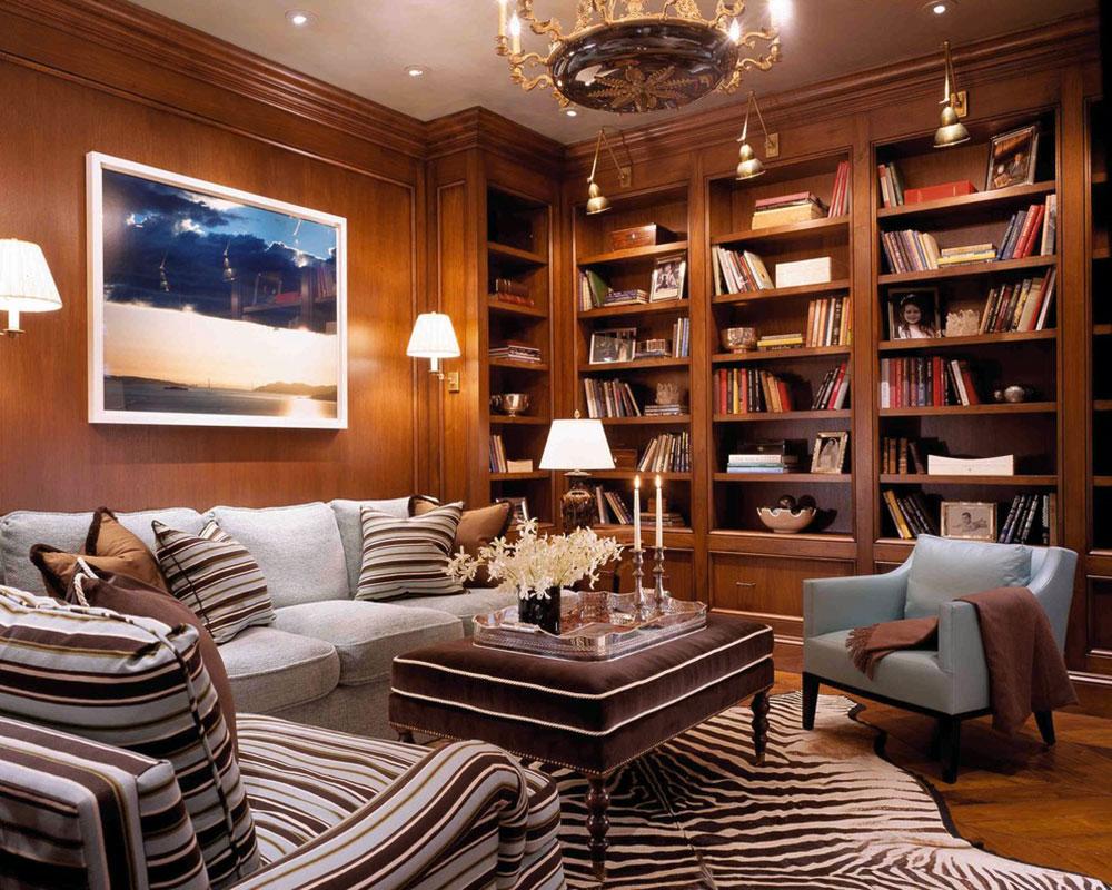 Interior design for home library - Impressive Home Library Design Ideas For 2017 15 Impressive