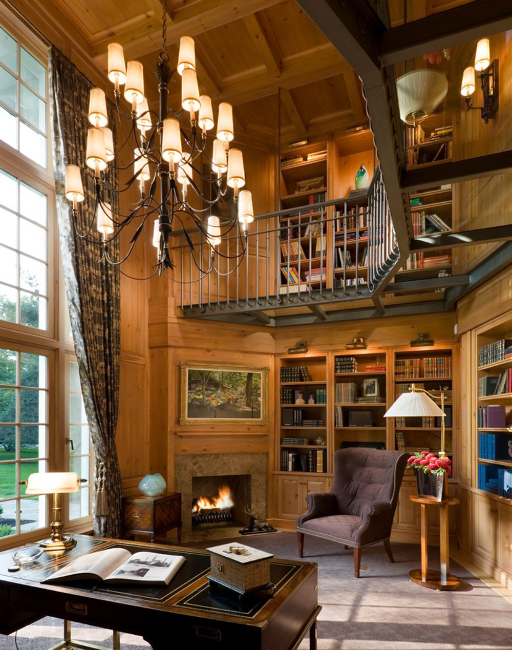 Impressive Home Library Design Ideas For 2018
