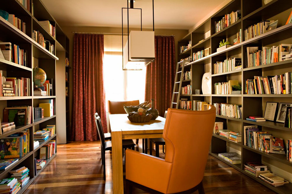 Contemporary Home Library impressive home library design ideas for 2017