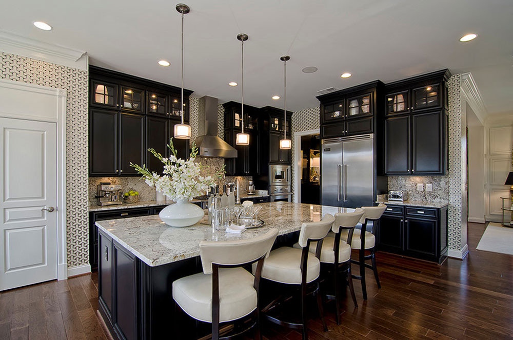 Kitchens-With-Black-Cabinets-Can-Still-Be-Bright12 Kitchens & Kitchens With Black Cabinets - Pictures and Ideas