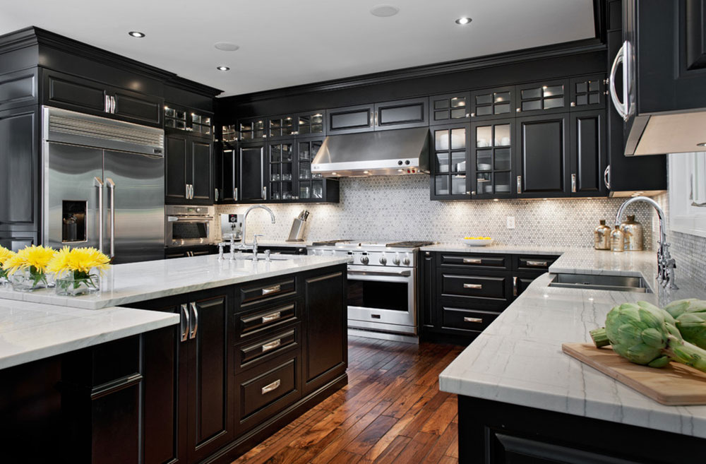 Kitchens-With-Black-Cabinets-Can-Still-Be-Bright5 Kitchens & Kitchens With Black Cabinets - Pictures and Ideas