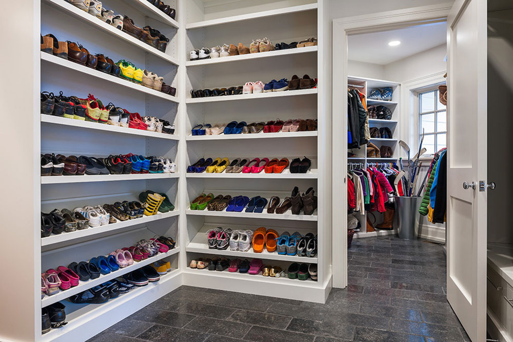 walk in closet shoe shelves source shoe storage ideas for better organizing