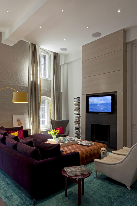 Interior Design Purple Living Room