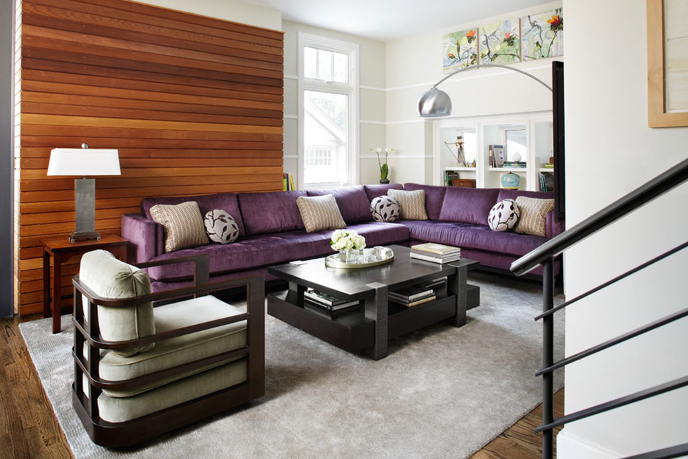 Cozy Purple Living Room. The Experience Of A Purple Couch Is Not