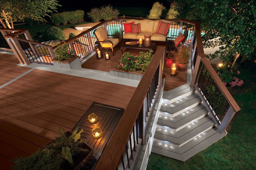 deck lighting ideas. brightyourbackyardwiththesedecklightingideas9 backyard deck lighting ideas n