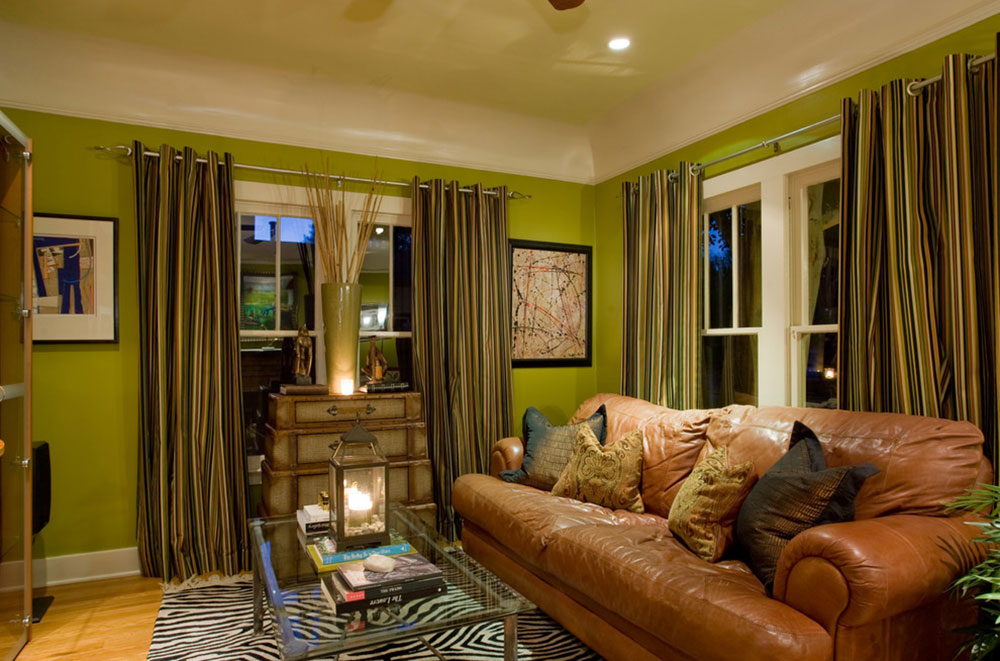 Brilliant Shades Of Green For Your Living Room12 Brilliant