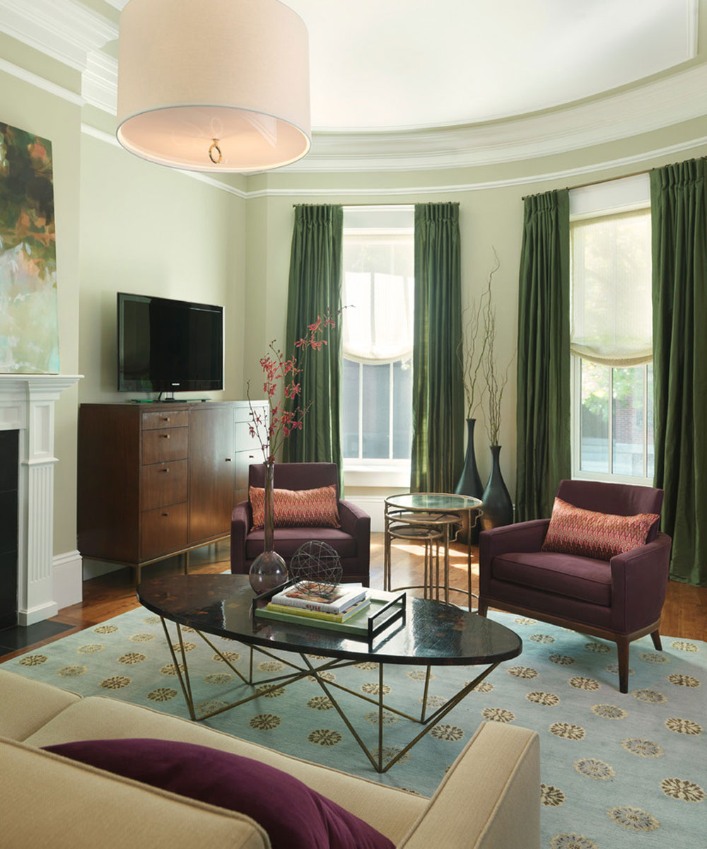 Brilliant Shades Of Green For Your Living Room3 Brilliant