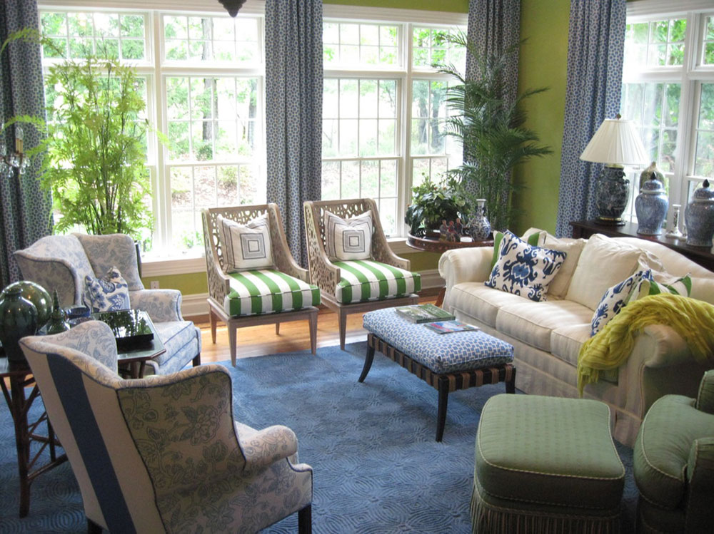 Brilliant Shades Of Green For Your Living Room5