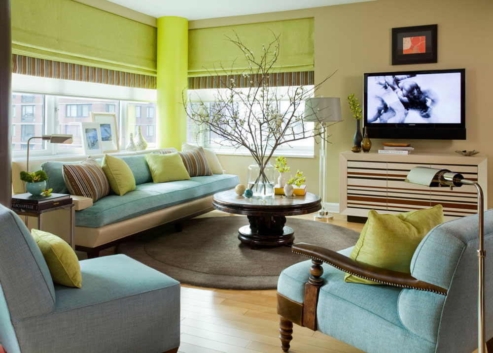 Brilliant Shades Of Green For Your Living Room7