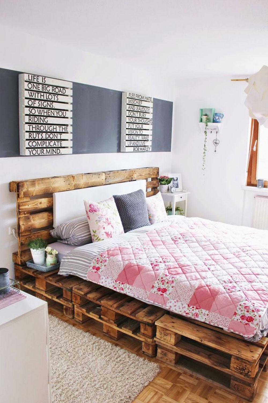 Pallet Bedroom Furniture Great Pallet Bed Ideas To Lighten Your Space