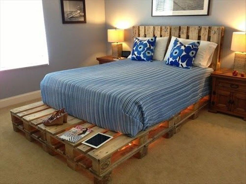 Wonderful Great Pallet Bed Ideas To Lighten Your Space8 Great