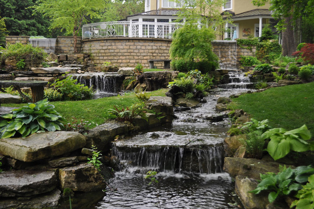improve home ambiance with backyard waterfalls15 backyard waterfalls ideas to inspire - Garden Waterfalls