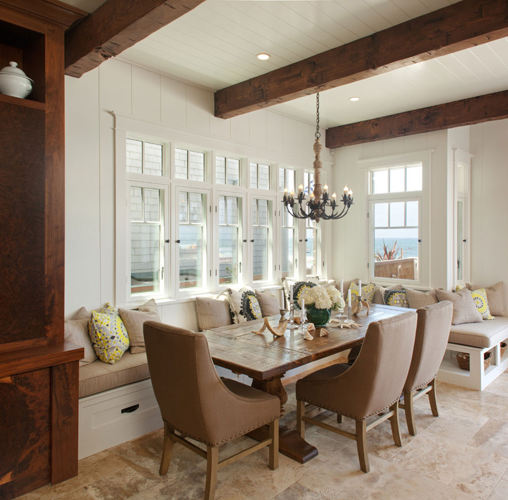 Dining room table with corner bench seat - Kitchen Table Bench Seats That Gather The Entire