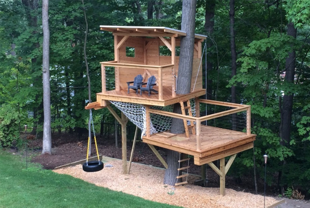 cool treehouse design ideas to build 44 pictures rh impressiveinteriordesign com  simple backyard treehouse designs
