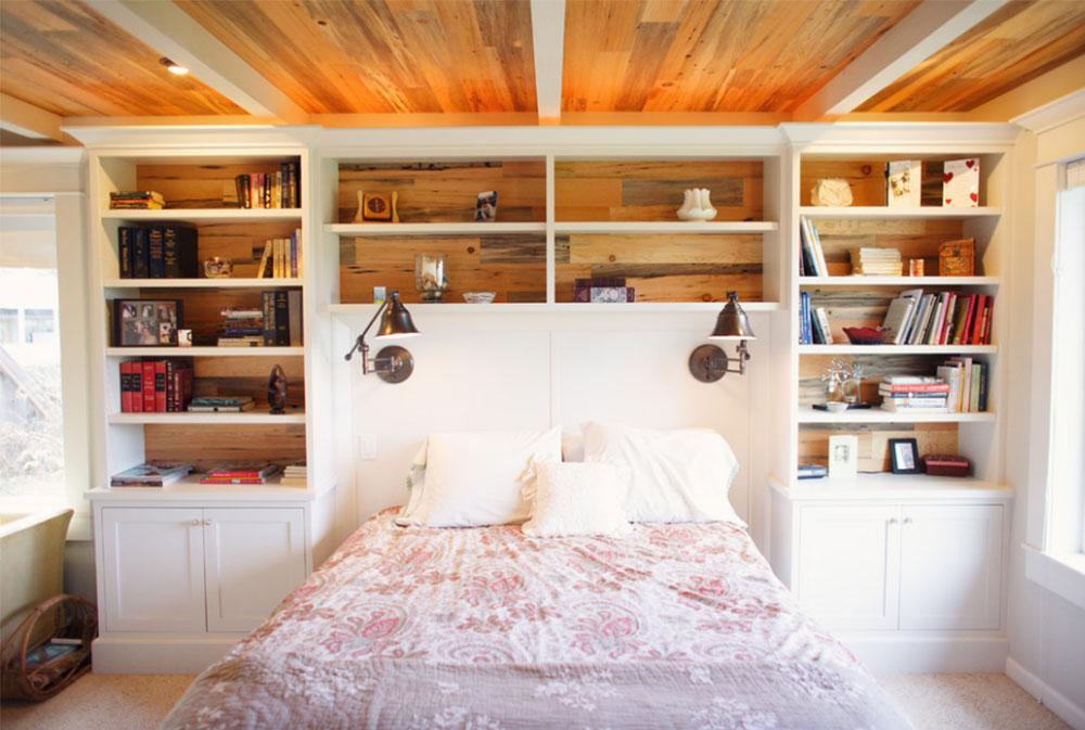 Bookcase Headboard Design Ideas