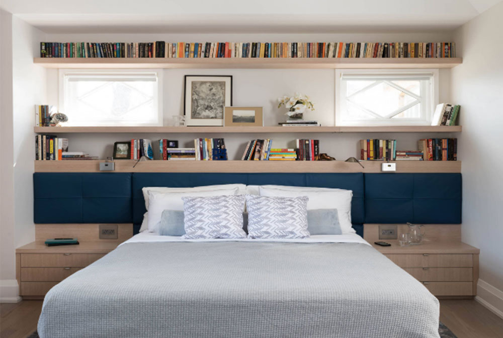 Bookcase Headboard Design Ideas