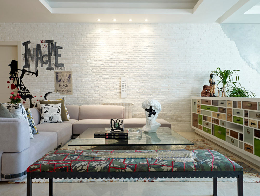 White Bricks Wall Ideas For The Entire House1