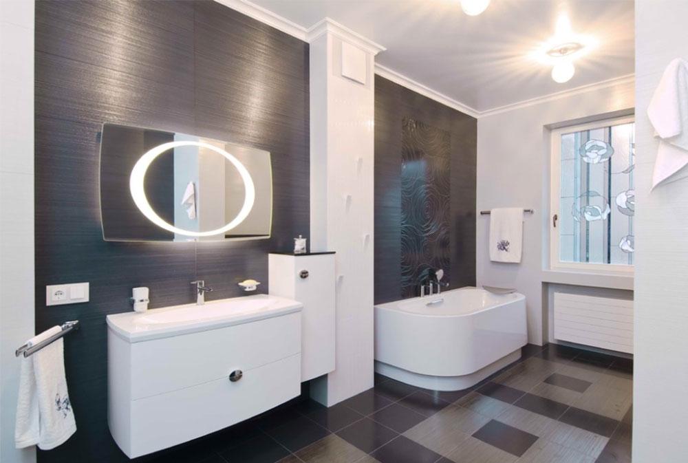 Art deco bathroom interior design