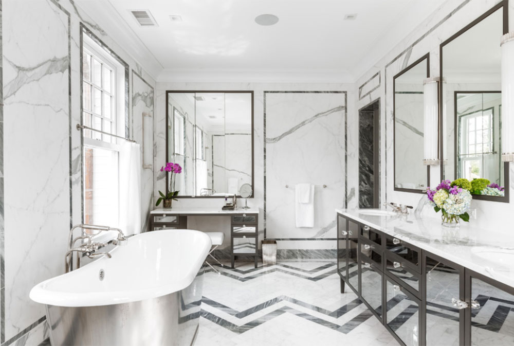 Colonial Revival By Alisberg Parker Art Deco Bathroom Interior Design