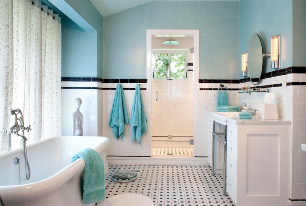 Art Deco Bathroom Interior Design - Art-deco-green-bathroom-tiles