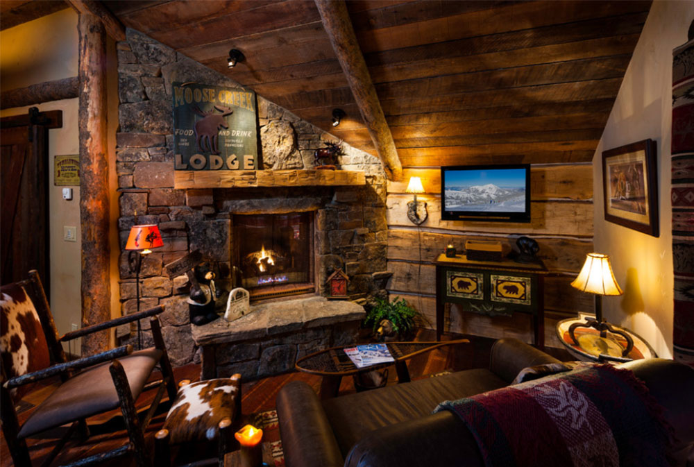Foxtail-Residence-by-Teton-Heritage-Builders Rustic Fireplaces: Designs,
