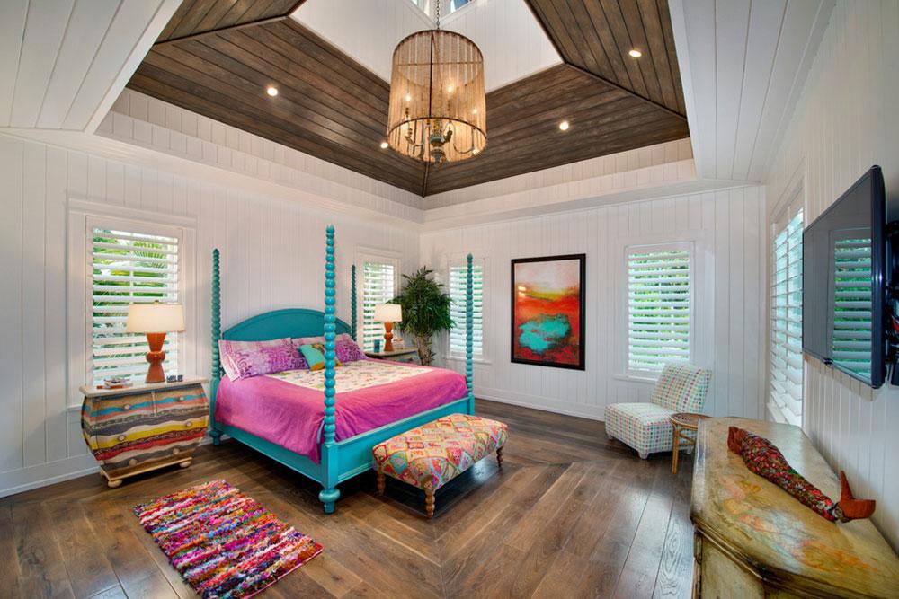 Guest-Bedroom-Weber-Design-Group-Inc. Bright And Lively Tropical & Bright And Lively Tropical Colors Schemes