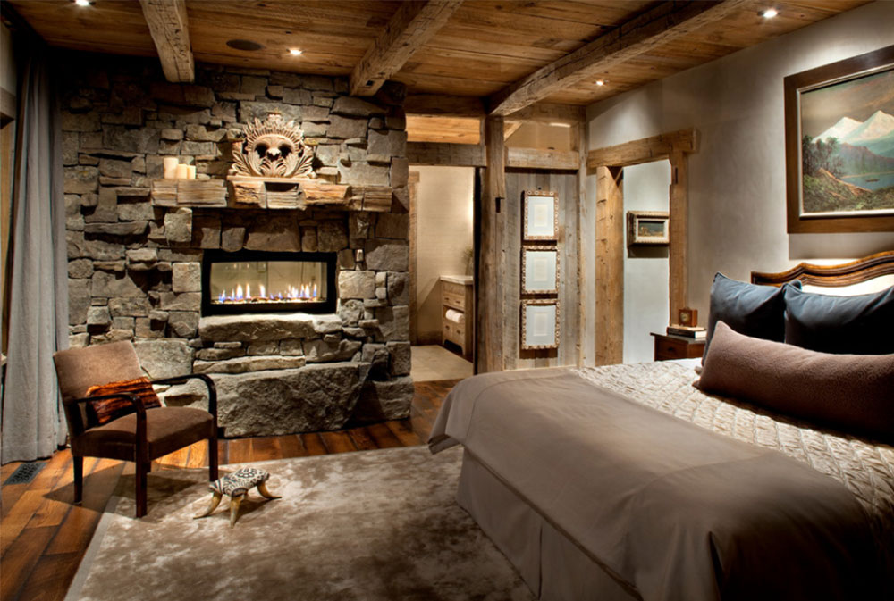 Master Bedroom By Peace Design Rustic Fireplaces Designs Tips