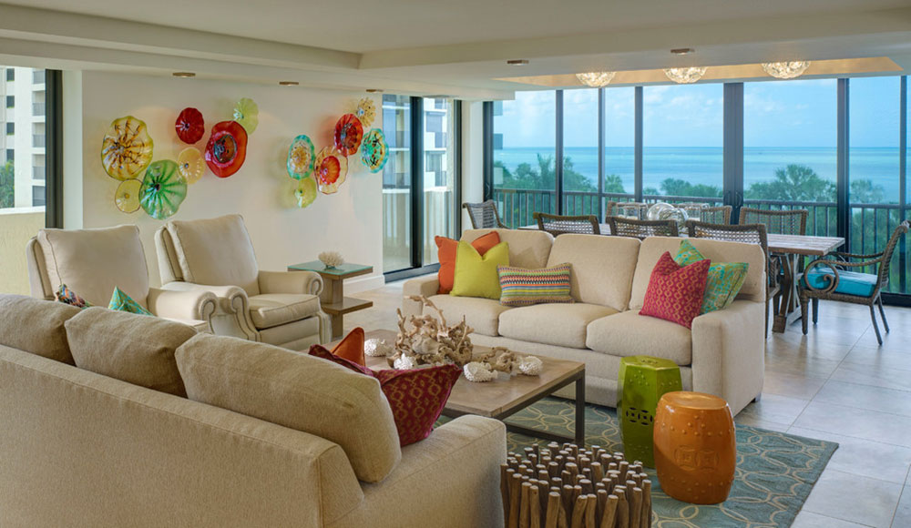 Form In Interior Design bright and lively tropical colors schemes