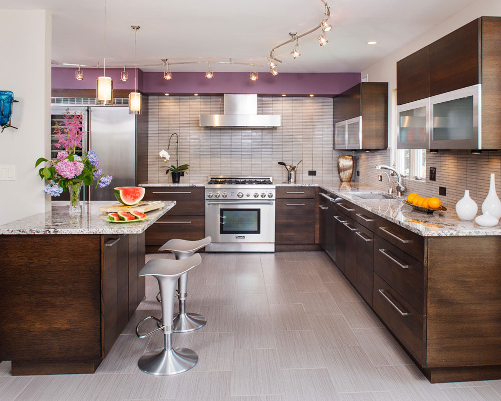 Edgy Contemporary Kitchen By Creative Design Construction Amazing Range Of