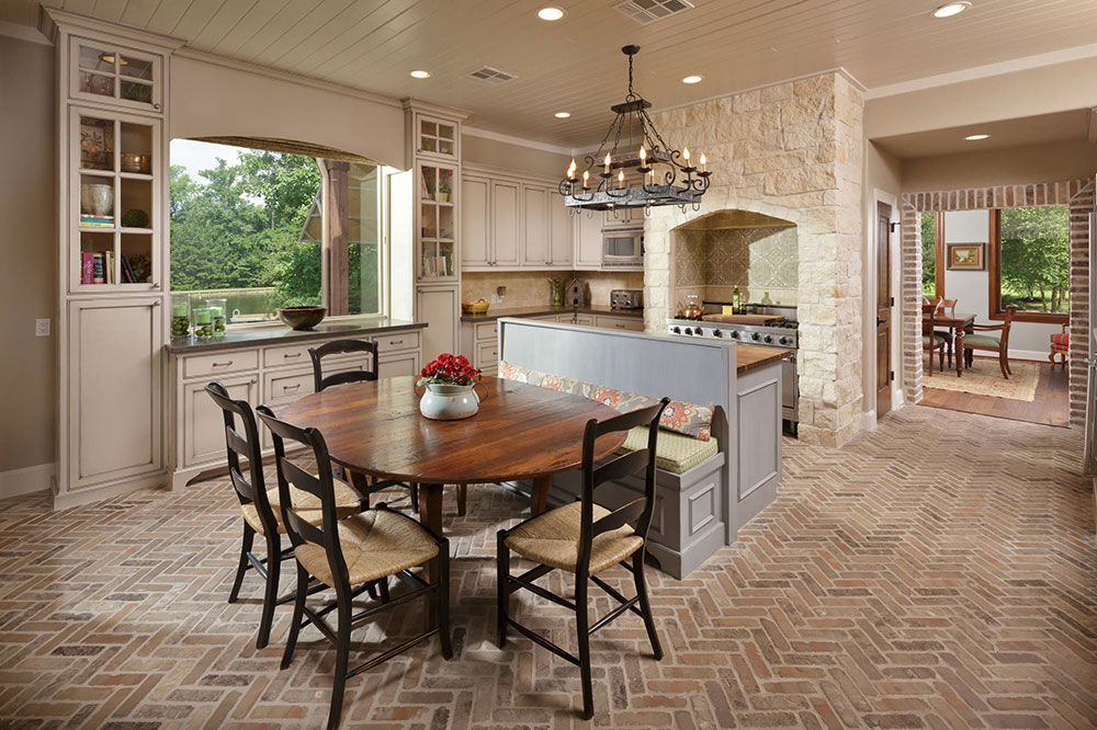 Extensive Home Remodel Magnolia TX by Morning Star. Amazing Range Of Kitchen Floor Tile Designs