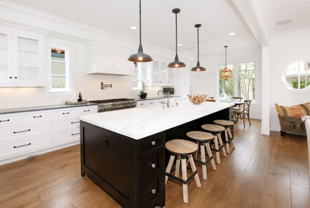 Custom White Kitchen black and white kitchen design ideas