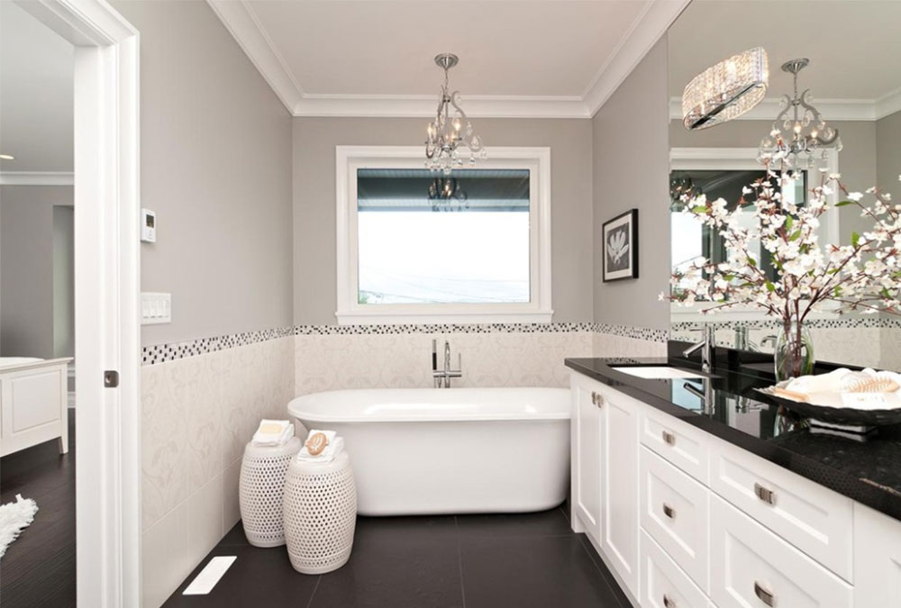 Black And White Bathroom Design Ideas Delectable White Bathroom Remodel Ideas