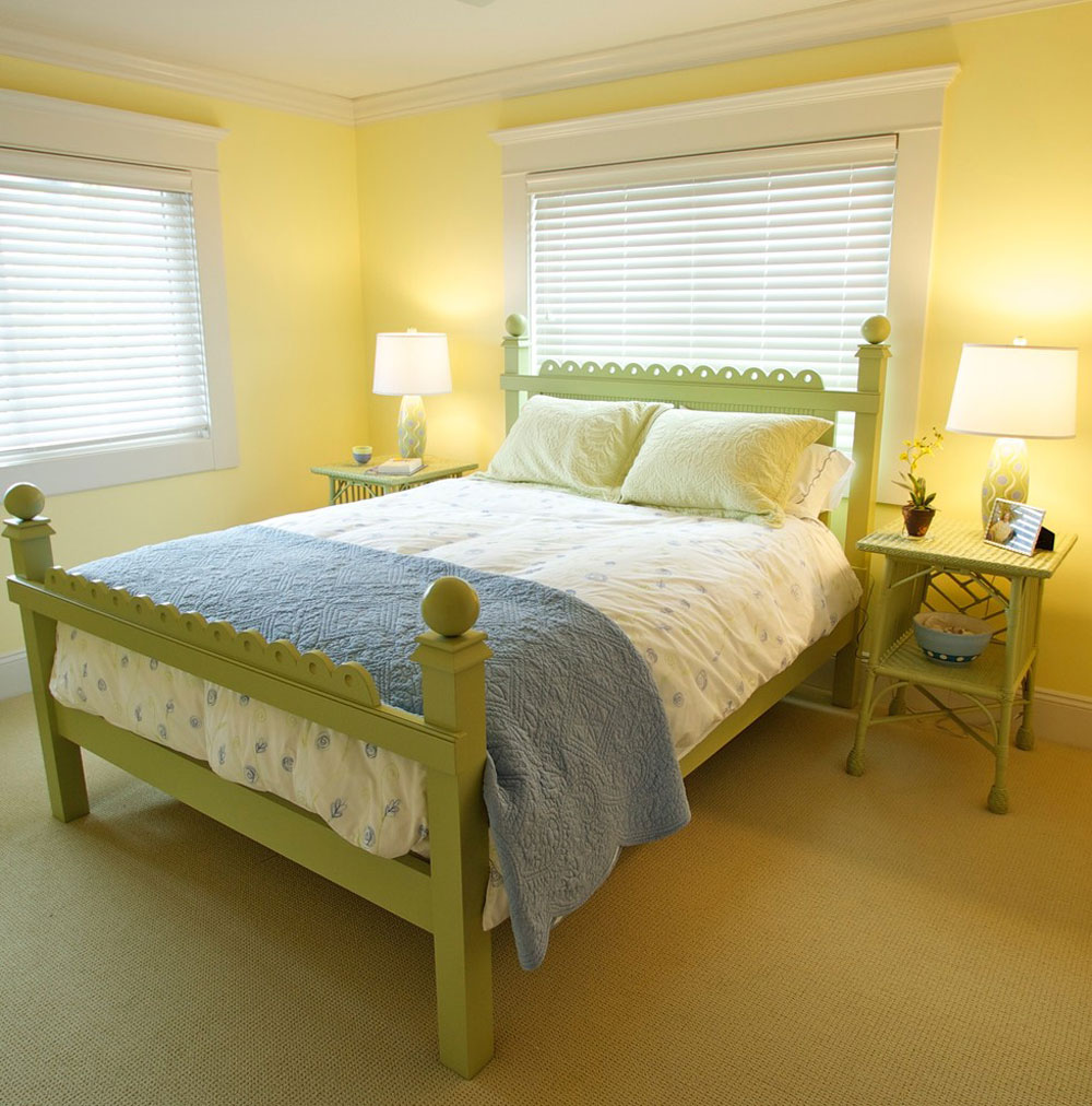 Wall with green bedroom accessories a coastal cottage home by betsie bay furniture yellow