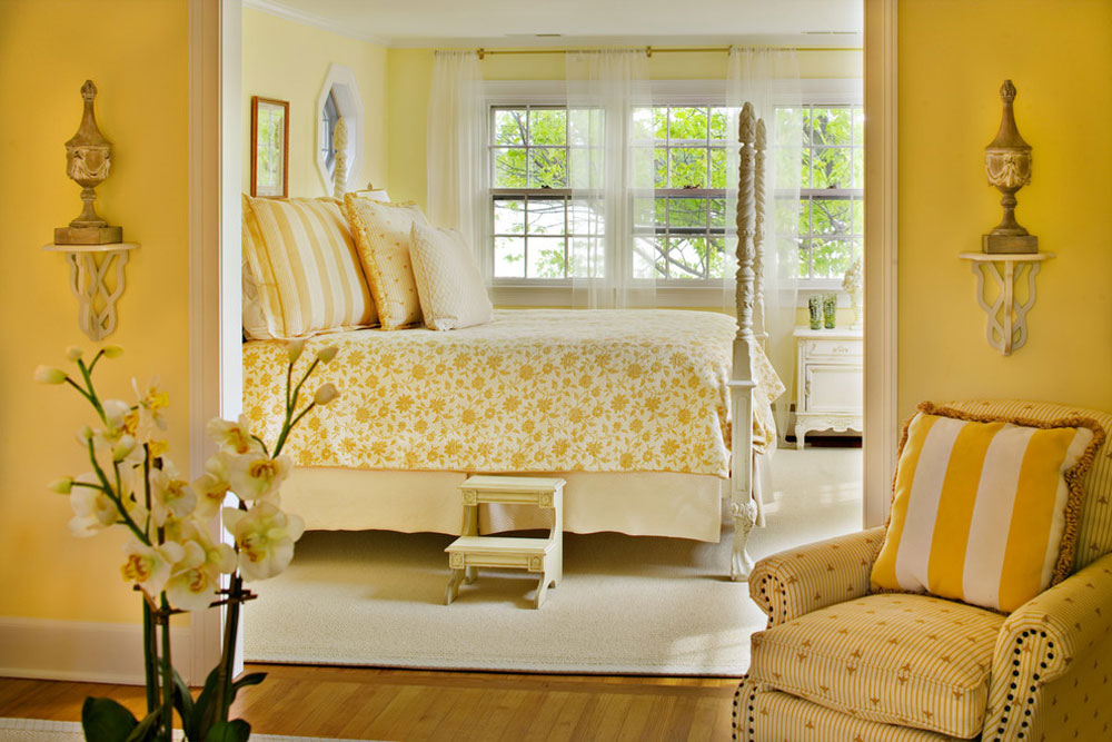 Yellow Bedroom Design: Ideas, Wall Decoration, & Accessories