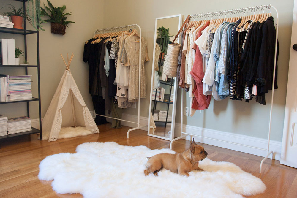 Eclectic Bedroom By Le Klein Clothes Rack: Hanging, Free Standing