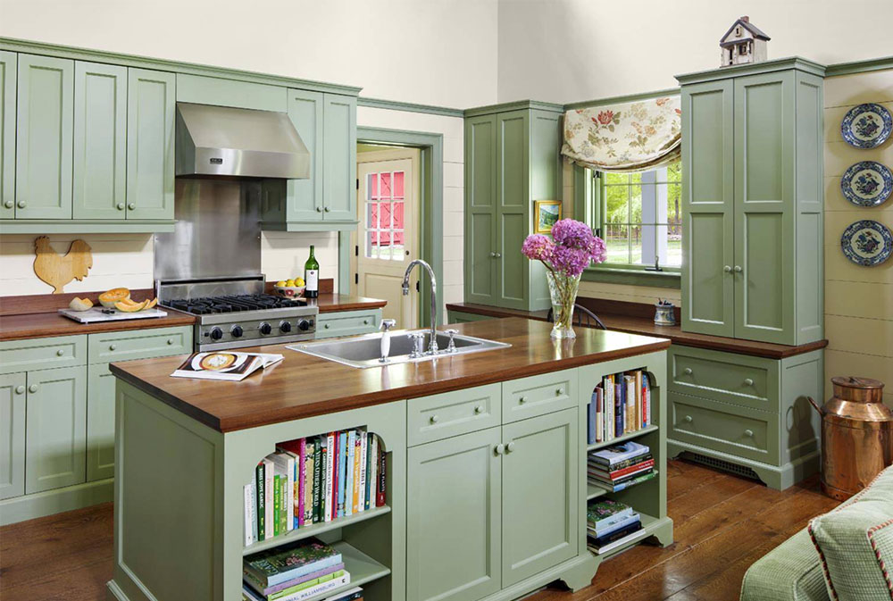 Farm-Cottage-by-Rosewood-Custom-Cabinetry-Millwork- Wood Countertops: Solid, Rustic, Natural Kitchen Counters