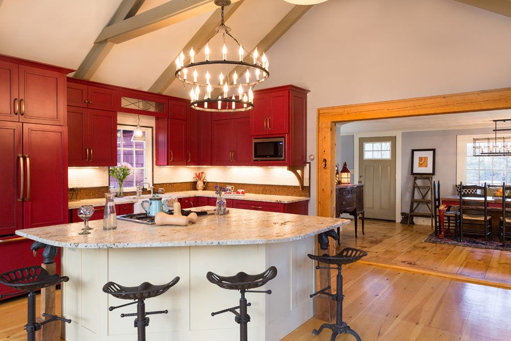 Red Kitchen Design Ideas Part - 39: Farmhouse-Fabulous-Bow-NH-by-New-England-Design-