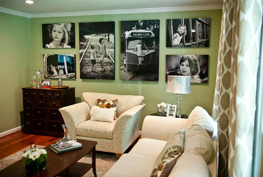 Green Living Room Ideas: Walls, Chairs, Paint