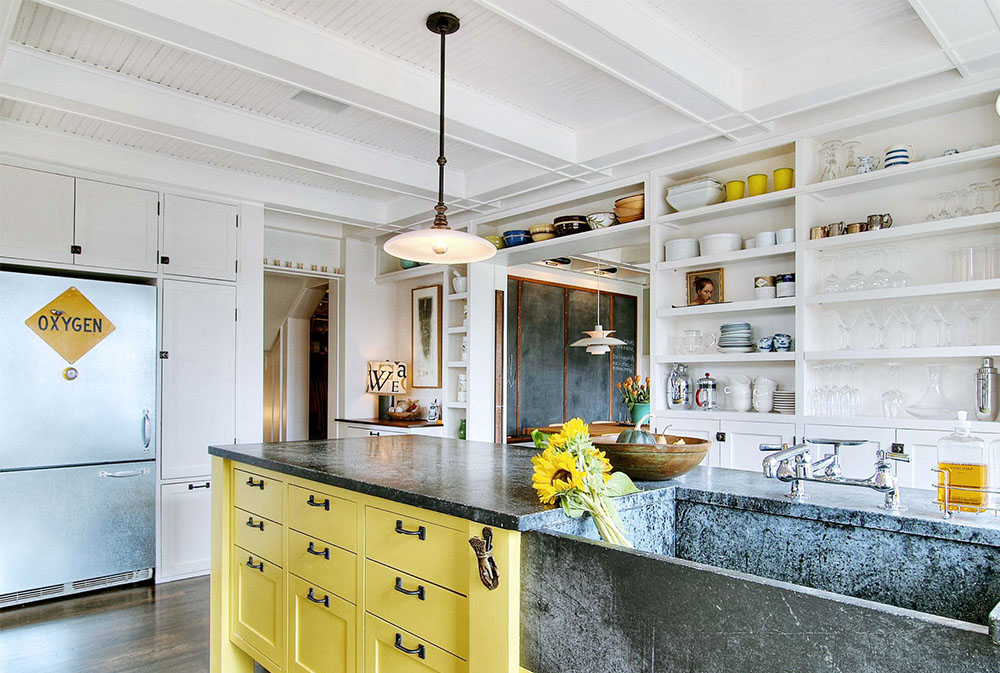 Kitchens By J.A.S. Design Build Yellow Kitchen: Décor Rugs, Accessories