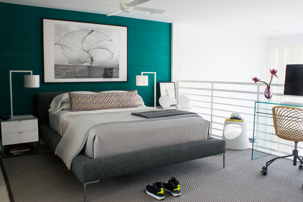 master bedroom south beach apartment miami beach - Green Bedroom Decoration