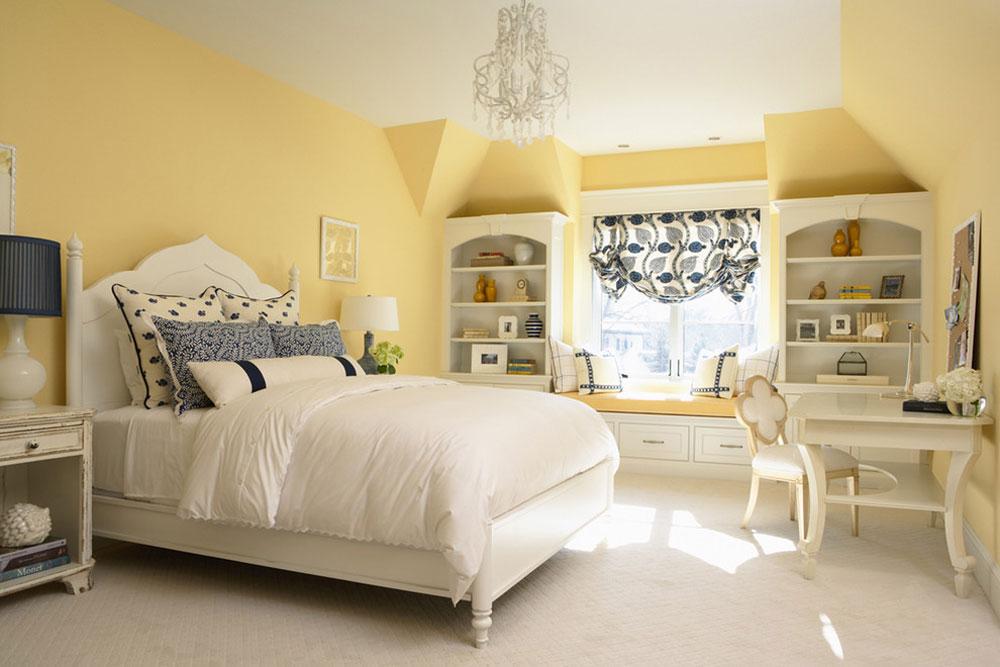 merilane avenue residence by martha ohara interiors yellow bedroom design - Interior Design Ideas For Walls