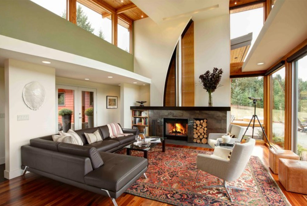green living room ideas. Modern Portland New Construction Living Room by Kraft  Green Ideas Walls Chairs Paint