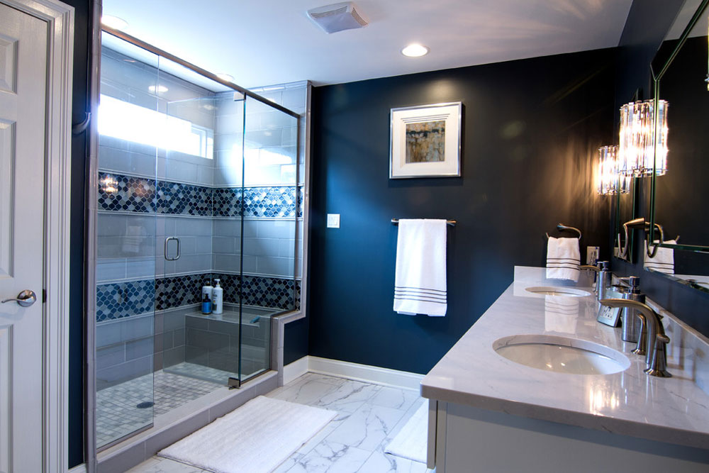 Sewickley Ridge by LMNTL DSGN Blue bathroom ideas Design dcor Blue